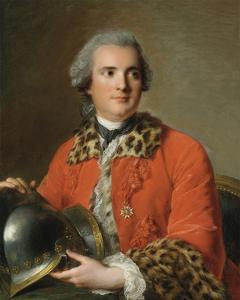 Portrait Of Jean Victor De Rochechouart, 1756 by Jean-Marc Nattier