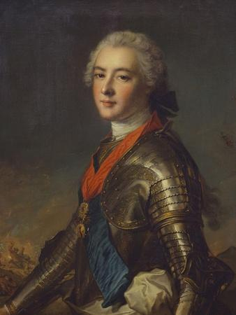 Portrait of Louis-Jean-Marie De Bourbon (1725-1793), Duc De Penthievre in Armour, with the Order…