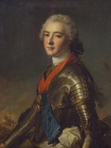 Portrait of Louis-Jean-Marie De Bourbon (1725-1793), Duc De Penthievre in Armour, with the Order… by Jean-Marc Nattier