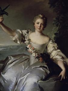 Portrait of Marquise D'Antin by Jean-Marc Nattier