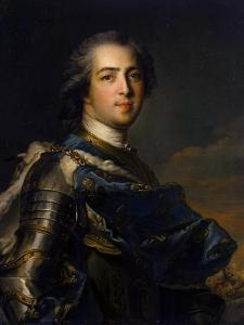 Portrait of the King Louis XV, (1710-177), 1745 by Jean-Marc Nattier