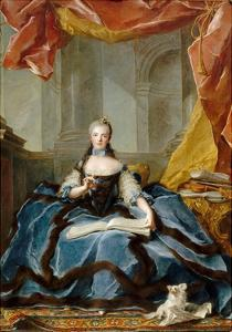 Princess Marie Adélaïde of France (1732-180) by Jean-Marc Nattier