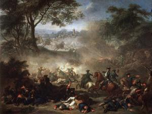 The Battle of Lesnaya, 1717 by Jean-Marc Nattier