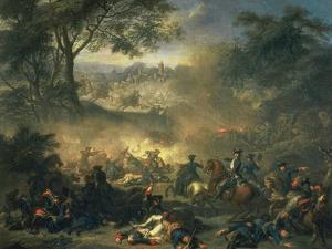 The Battle of Poltava in 1709, 1717 by Jean-Marc Nattier