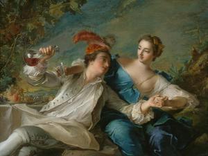 The Lovers (Chivalric Scene), 1744 by Jean-Marc Nattier