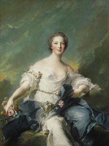 The Marquise De Baglion as Flora, 1746 by Jean-Marc Nattier