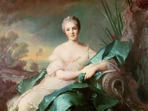 Victoire De France as the Element of Water, 1750-1 by Jean-Marc Nattier