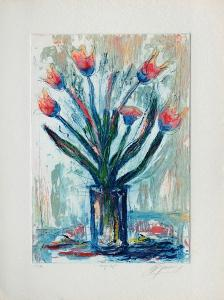 Tulipe rouge by Jean-marie Guiny