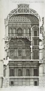 Cutaway Showing the Main Hall of the Louvre by Jean Mariette