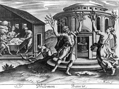 Philemon and Baucis, from an Edition of the Metamorphoses of Ovid, Published in Paris in 1619
