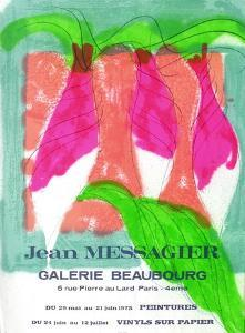 Expo 75 - Galerie Beaubourg by Jean Messagier