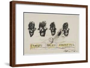 Famous Negro Athletes, 1981 by Jean-Michel Basquiat