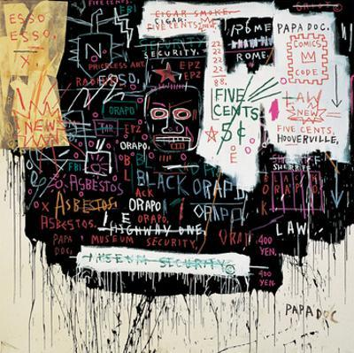 Museum Security (Broadway Meltdown), 1983 by Jean-Michel Basquiat