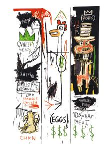 Quality Meats for the Public, 1982 by Jean-Michel Basquiat