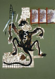 Sacred Ape by Jean-Michel Basquiat