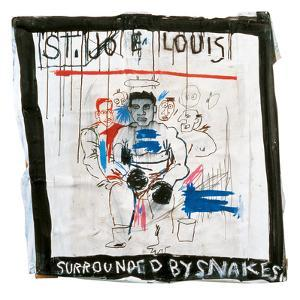 St. Joe Louis Surrounded by Snakes, 1982 by Jean-Michel Basquiat