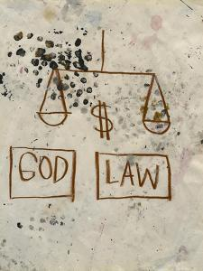 Untitled (God - Law) by Jean-Michel Basquiat