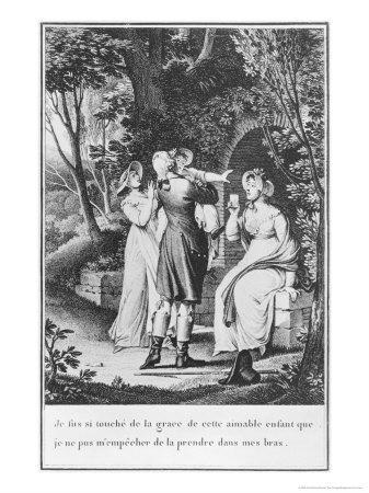 Illustration from The Sorrows of Werther by Johann Wolfgang Goethe
