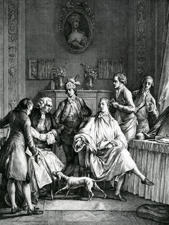 Man Getting Dressed, C.1770