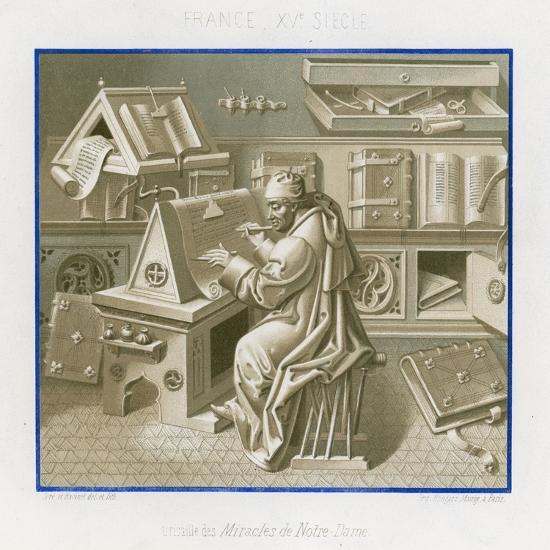 Jean Mielot in the Scriptorium--Giclee Print