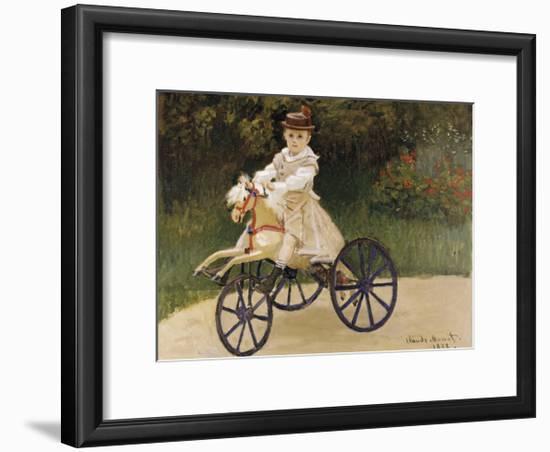 Jean Monet on his Hobby Horse, 1872-Claude Monet-Framed Premium Giclee Print