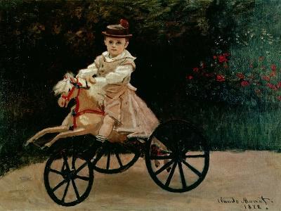 Jean Monet on His Hobby Horse, 1872-Claude Monet-Giclee Print