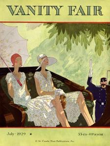 Vanity Fair Cover - July 1929 by Jean Pag?s