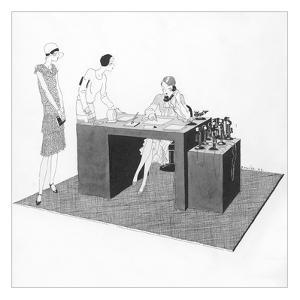 Vogue - April 1929 by Jean Pag?s