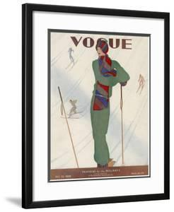 Vogue Cover - December 1928 by Jean Pag?s