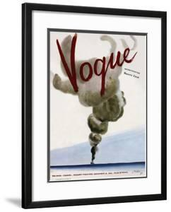Vogue Cover - December 1936 by Jean Pag?s