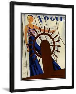 Vogue Cover - June 1931 by Jean Pag?s