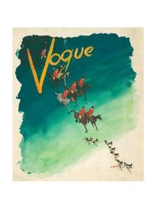 Vogue Cover - October 1938 by Jean Pag?s