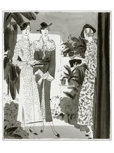 Vogue - February 1935 by Jean Pag?s