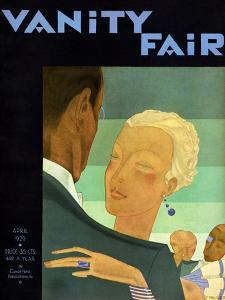 Vanity Fair Cover - April 1929 by Jean Pagès