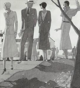 Vogue - April 1930 by Jean Pagès