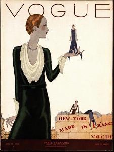 Vogue Cover - April 1930 by Jean Pagès