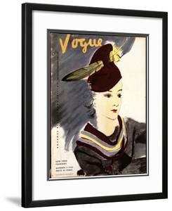 Vogue Cover - October 1934 by Jean Pagès