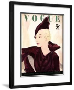Vogue Cover - September 1933 by Jean Pagès