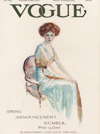 Vogue Cover - February 1909