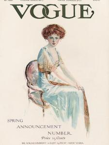 Vogue Cover - February 1909 by Jean Parke