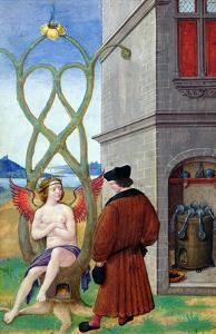 Dialogue Between the Alchemist and Nature, 1516 (Vellum) by Jean Perreal