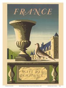 France - Pays de Chateaux (Country of Castles) by Jean Picart Le Doux