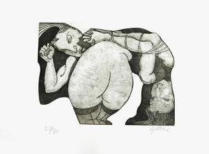 Père fouettard by Jean Pierre Ceytaire
