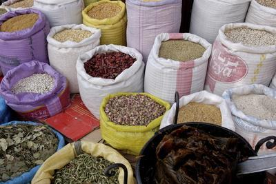 Spices in the Souks in the Medina, Marrakesh, Morocco, North Africa, Africa