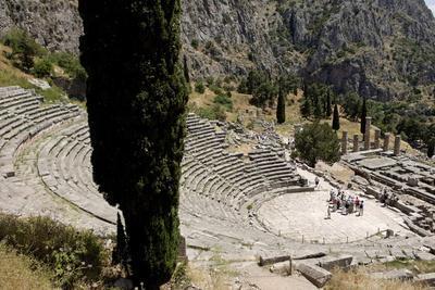 The Ancient Theater, Delphi, UNESCO World Heritage Site, Peloponnese, Greece, Europe
