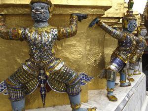 Statues of Monkey-Demons by Jean-Pierre DeMann