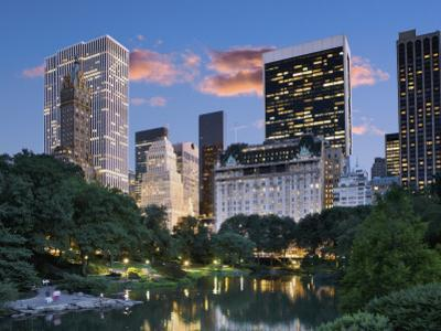 Central Park South at Night by Jean-pierre Lescourret