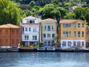 Houses on Bosphorus by Jean-pierre Lescourret