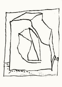 Composition 129 by Jean-pierre Pincemin