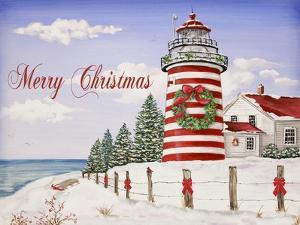 JP3897-Christmas Lighthouse -Merry Christmas by Jean Plout